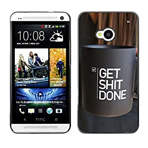 SKCASE Center / Funda Carcasa - Cosas Café Inspiring texto;;;;;;;; - HTC One M7