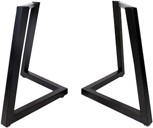 HXBH Patas de la mesa de hierro - negro único V patas de la mesa ...