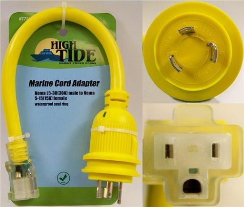 Price comparison product image NEMA L5-30 male to NEMA 5-15 female adapter (7729)