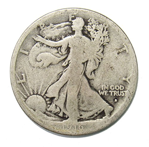 1916 D Walking Liberty Half Dollar 50¢ OBV - KEY -