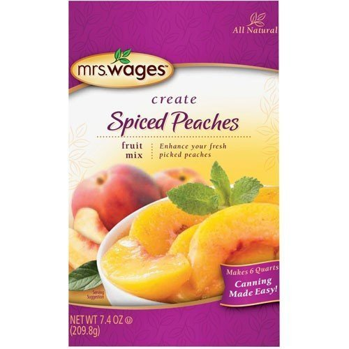 (Mrs. Wages Spiced Peaches Mix 7.4 Oz. Packet, (Pack of 6) by Mrs. Wages)