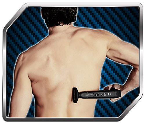 MANGROOMER - LITHIUM MAX PLUS+ Back Hair Shaver (New 5th Generation) Complete Attachment Head With Shock Absorber Neck And New 50% Wider Blade Design by MANGROOMER (Image #7)