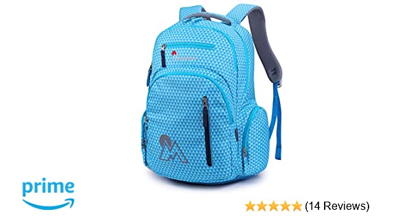 d133f267f729 Mountaintop Kids School Backpacks Elementary School Bags Bookbag for Boys  Girls with Chest Strap
