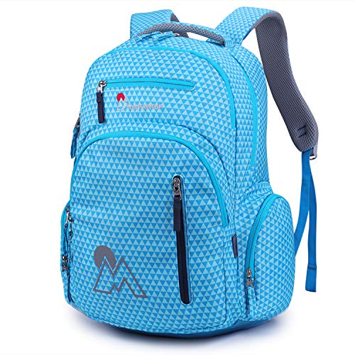 MOUNTAINTOP Kids School Backpacks Elementary School Bags Bookbag for Boys Girls with Chest Strap (Blue)