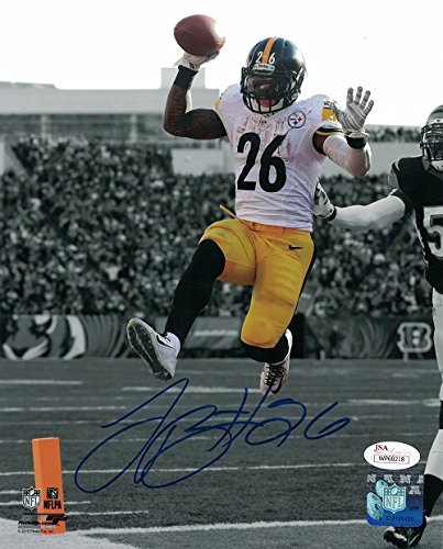 Bell Signed Photo (LeVeon Bell Autographed Pittsburgh Steelers 8x10 Photo (Spotlight) JSA)