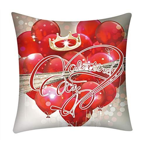 Saint Valentine's Gift, Print Pillow Case 4545cm Sofa Car Cu