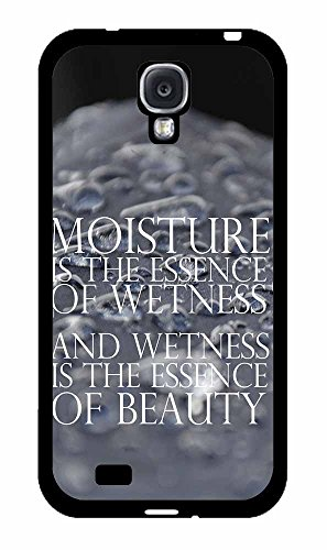 [Funny Movie Moisture Quote 2-Piece Dual Layer Phone Case Back Cover Samsung Galaxy S4 I9500 comes with Security Tag and MyPhone Designs(TM) Cleaning Cloth] (Zoolander Costume Design)