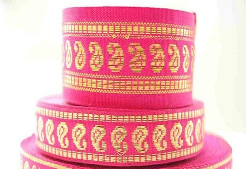 (Neotrims Salwar Kameez Satin India Paisley Ribbons for Crafts 2 Size Combination. Can be used single or combined both together as a set. It? a real traditional and versatile size for any use form sew)