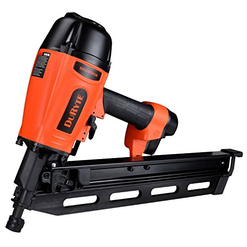 DuRyte Pro 21 Degree Light Weight Magnesium Housing Air Framing Nailer, Framing Nail Gun with Blow-Mould Case - 2 to 3-1/2-Inch