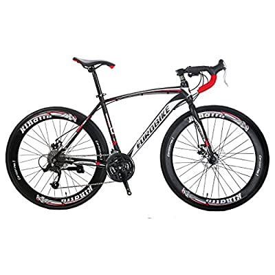 Road Bike EURXC550 27 Speed 700C Road Bicycle Dual Disc Brake Bicycle