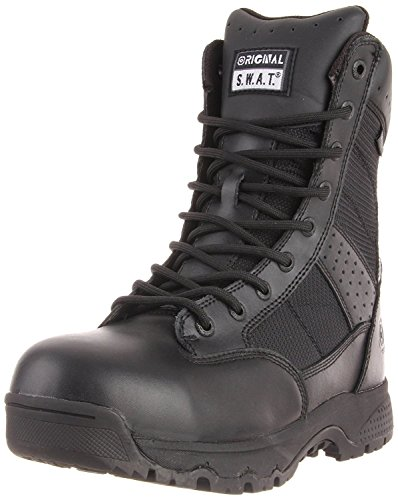 Original S.W.A.T. Men's Metro 9 Inch Waterproof Side-zip Safety Tactical Boot, Black, 5 D US 5 Waterproof Side Zip Boots