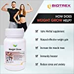 Biotrex Nutraceuticals Weight Grow Herbals – 60 Veg. Capsules, Weight Gain and Muscle Growth for Men and Women with…