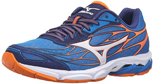 Mizuno Men's Wave Catalyst Running Shoe, Directoire Blue/Clownfish, 7.5 D US ()