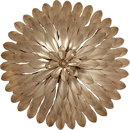 Crystorama 505-GA Leaf, Flower, Fruit Four Light Ceiling Mount from Broche collection in Gold, Champ, Gld Leaffinish, from Crystorama