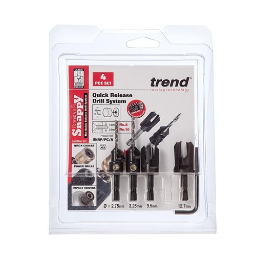 Trend SNAP Snappy DRILLCSK & PC 4PC Set SNAP/PC/A