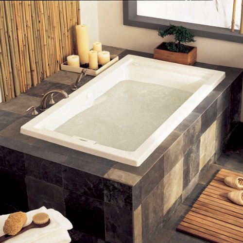 American Standard 2422VC.020 Evolution 5 Feet By 32 Inch Deep Soak  Whirlpool Bath Tub With EverClean And Hydro Massage System I, White   Drop  In Bathtubs ...