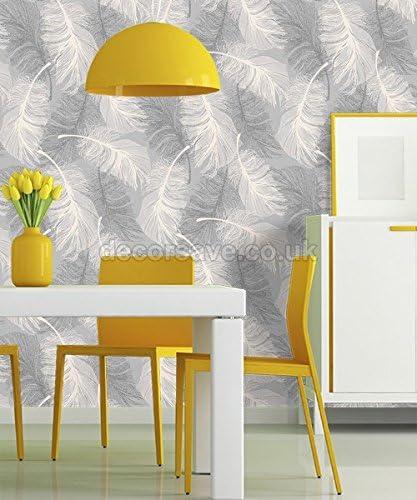 CWV Wallcoverings M0923 Papel pintado Full Roll Gris y blanco
