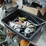 Qsbon Commercial Plastic Bus Box/Tote Box, Black