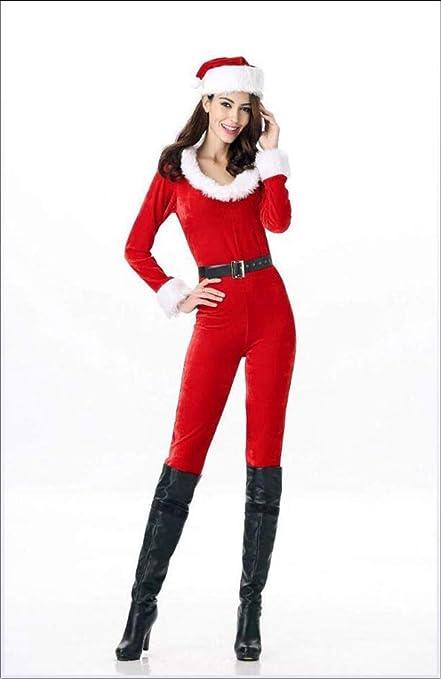 Vestido De Navidad Manga Larga Chica Traje De Navidad Club ...
