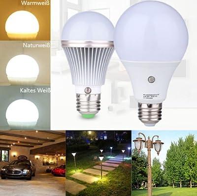 Sensor Bulbs,TOPCHANCES E27 LED Sensor Light Bulb Lamp Auto Switch Stairs Night Light