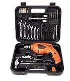 BLACK + DECKER HD455KA 10mm 550 Watt Impact Drill Kit (Orange, 41-Pieces)