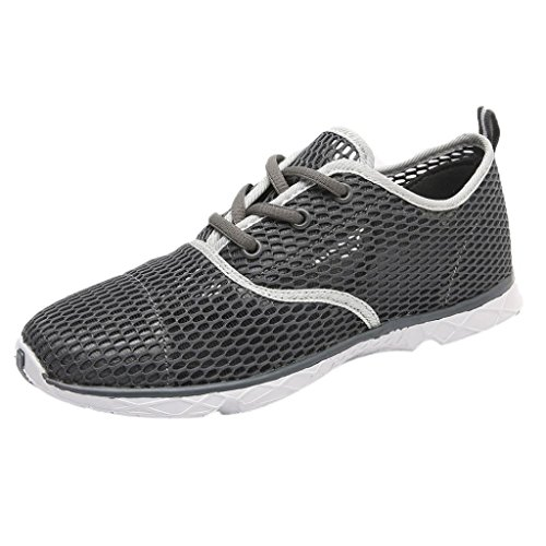 2018 Men's Boys Running Shoes-Casual Mesh Lightweight Quick-Drying Sports Shoes Sneakers 6.5-10 (Gray, US:8.5) by Aurorax-Shoes