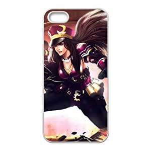 iPhone 5 5s Cell Phone Case White League of Legends Caitlyn Popular Games image KOL1359143