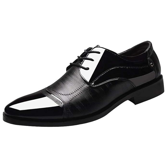 New Britischer Stil Herren Lederschuhe Fashion Man Pointed