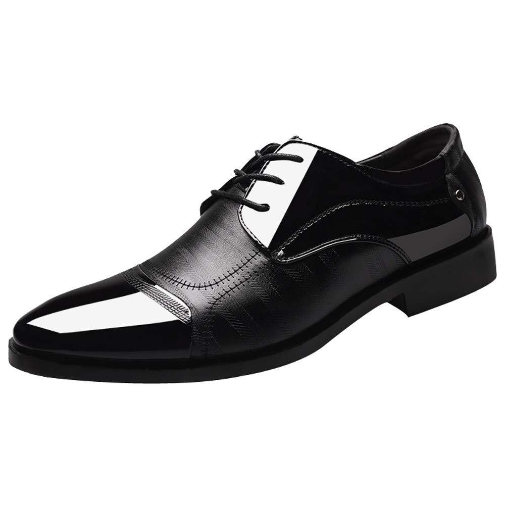 Herren Business Schuhe Lederschuhe, Sunday Mä nner Berufsschuhe Lackleder Schuhe Elegant Uniform Schuhe Hochzeit Party Festlich Schuhe Alle Jahreszeiten 37-46