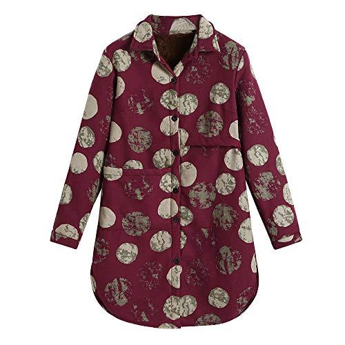 Cotton Linen Winter Warm Plus Velvet Coat Folk-Custom Print Outcoat Jacket ()
