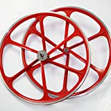 700c tires and rims - Teny Rim Bicycle Wheelset 6-Spoke MAG Wheels 700c For Fixie or Fixed Gear. Black, White or Red. Complete Set, Front and Rear Wheels Are Included. Flip-Flop Hub Included - By 2018 New.