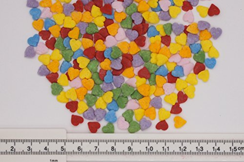 Natural Rainbow Gluten GMO Nuts Dairy Soy Free Confetti Valentine Hearts Bulk Pack. by Quality Sprinkles