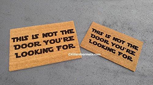 This Is Not The Door You're Looking For Coir Funny Doormat, Size Large - Welcome Mat - Doormat - Custom Hand Painted Doormat by Killer Doormats