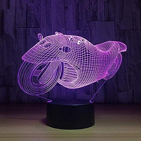 ZHIJINLI Rápido y furioso 3D 8 Motocicleta LED luz de Noche ...