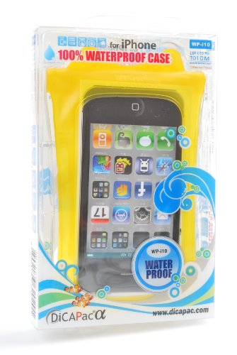 Dicapac WP-i10 Waterproof Case for iPhone 4 or 3G3GS - Yellow ()