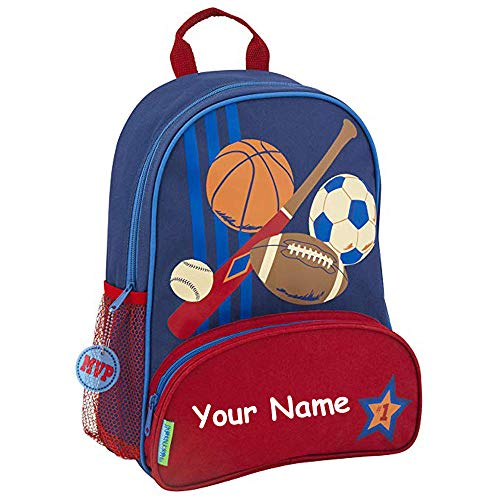 Stephen Joseph Personalized Sidekick Sports NEW STYLE Backpack With Name