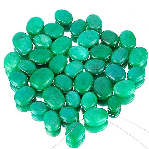 39 Pcs Finest Green Natural Emerald Huge Oval Drilled Beads 15mm-23mm - 893 Cts