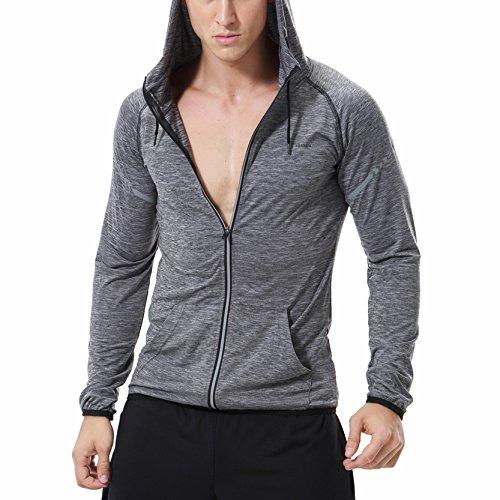 SEVENWELL Mens Zip Up Hoodies Premium Lightweight Zipper Hooded Sweatshirt for Men Active Running Sportwear