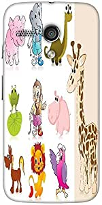 Snoogg Set Of Animal With Background Designer Protective Back Case Cover For ...