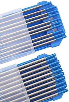 Mifive 10Pcs Wy20 Tungsten Electrode Professional Tig Rod 1,0 Mm pour Option 2.0/% Lanthanated pour Machine de Soudage Tig