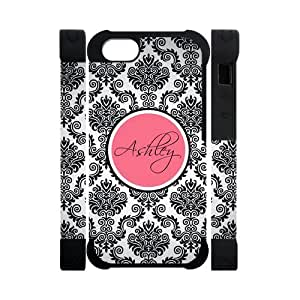 Monogram Personalized Damask Pattern Vs Rose Initials APPLE iPhone 6 4.7 Best Durable PVC Cover Case