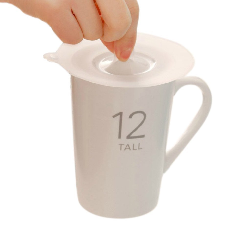 Crqes 1 Pcs S Anti-dust Silicone Glass Cup Cover Coffee Mug Suction Seal Lid Cap
