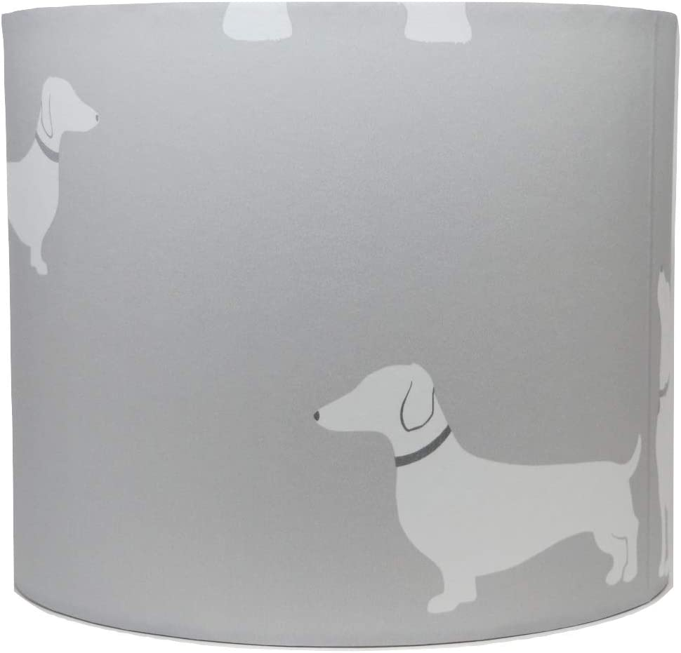 10 Dog Lampshade Ceiling Light Shade Grey Pooch Dogs Puppy Bedroom Nursery Accessories Gifts