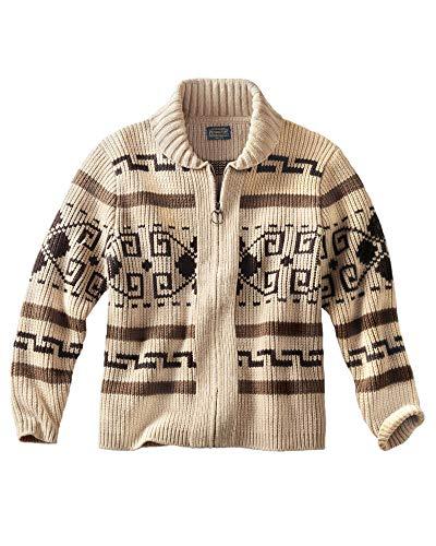 Big Lebowski Dude Costume (Pendleton - Men's Original Westerley Sweater, Tan/Brown,)