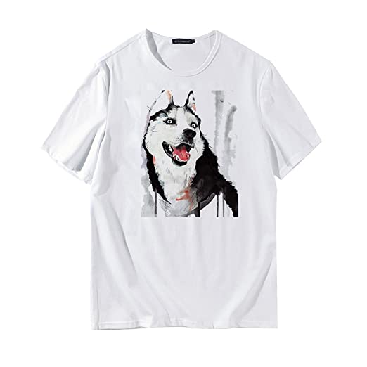 df517c2b9178 Image Unavailable. Image not available for. Color: Men's 3D Print T-Shirt  Cute Dog Printed Short Sleeve Summer Tops Tees Fashion Loose