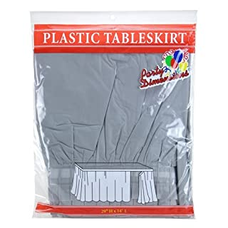 Party Dimensions Single Count Plastic Table Skirt, 29 by 14-Feet, Silver (B002HSYV3A) | Amazon price tracker / tracking, Amazon price history charts, Amazon price watches, Amazon price drop alerts