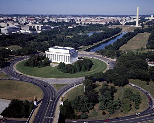 - Photograph | Aerial view of the Lincoln Memorial (foreground), the National Mall Reflecting Pool, and the Washington Monument, Washington, D.C.| Fine Art Photo Reporduction 55in x 44in
