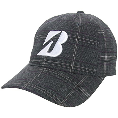 bridgestone-golf-plaid-adjustable-hat