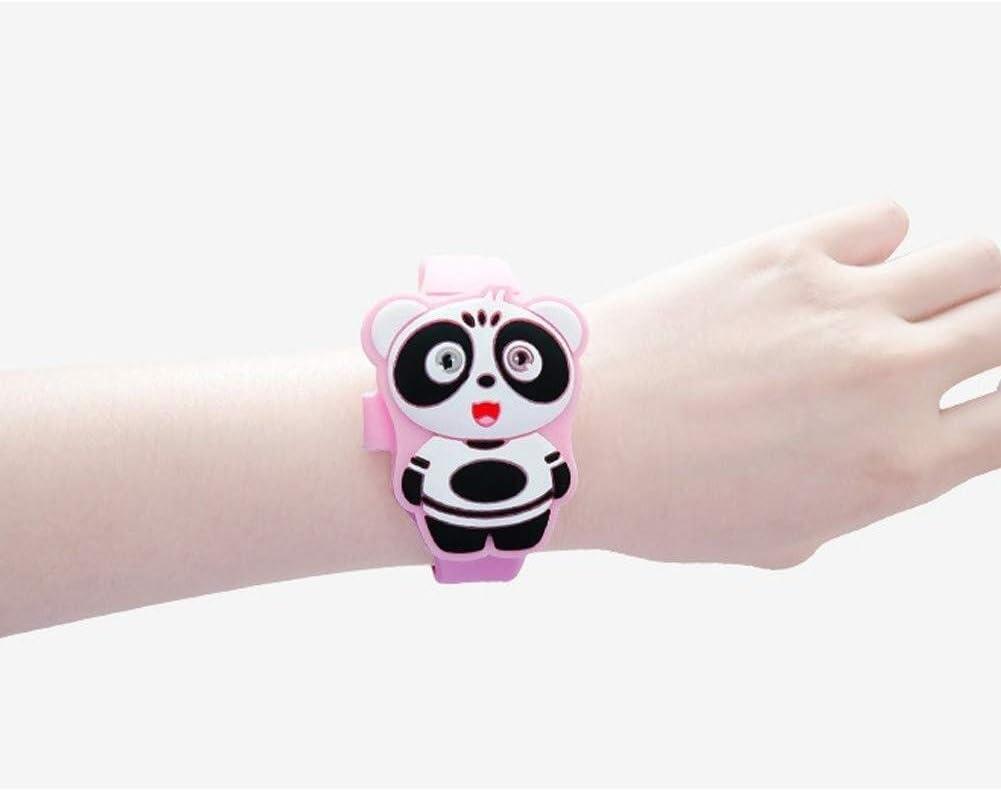 Montre pour Enfants Montres de Digital de 5 morceaux de filles, montres mignonnes d'enfants de lapin/écureuil/panda/cochon/tigre, montre-bracelet de la couleur différente LED for des cadeaux d Panda