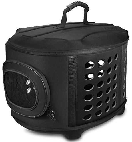 FRiEQ 23-Inch Large Hard Cover Pet Carrier - Pet Travel Kennel for Cats, Small Dogs & -
